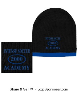 Two Color Beanie Design Zoom
